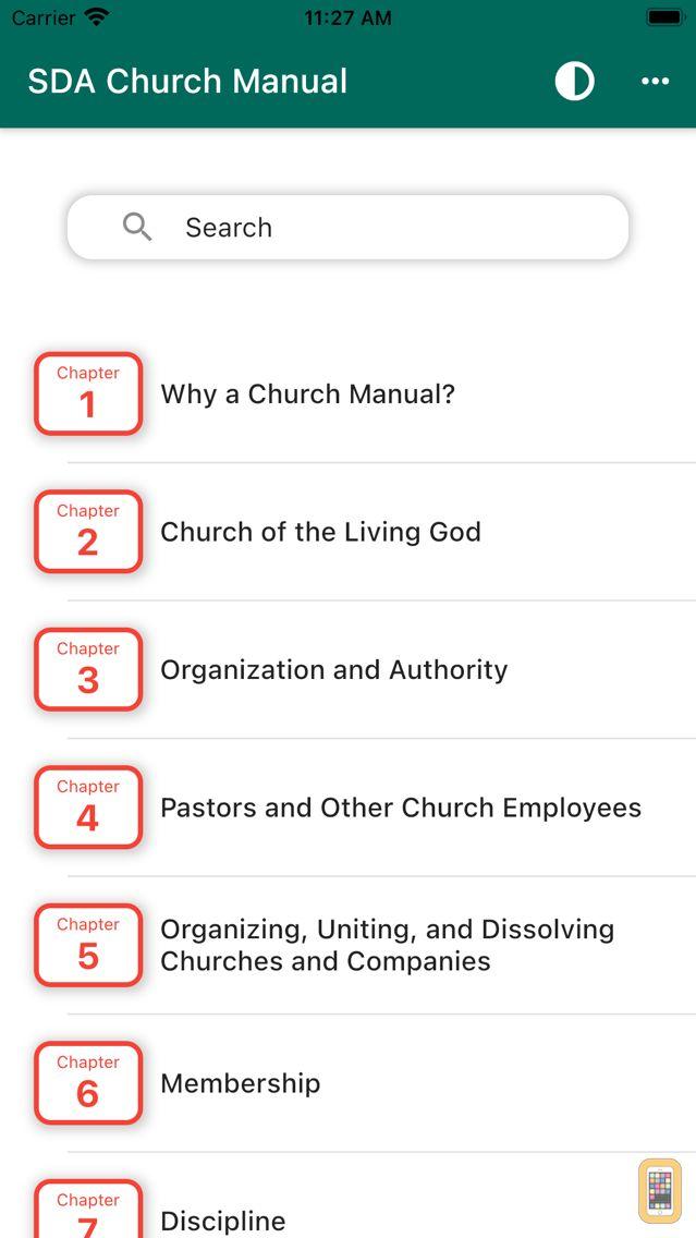 Screenshot - SDA Church Manual