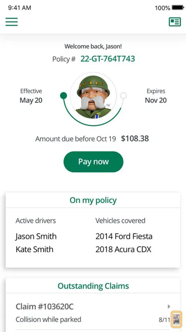 Screenshot - The General Auto Insurance App