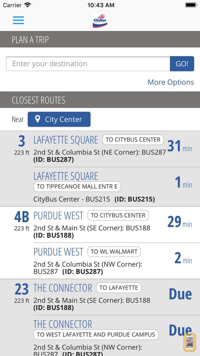 Screenshot - MyCityBus