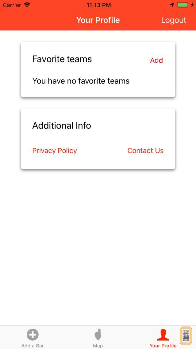 Screenshot - Team Bar Finder