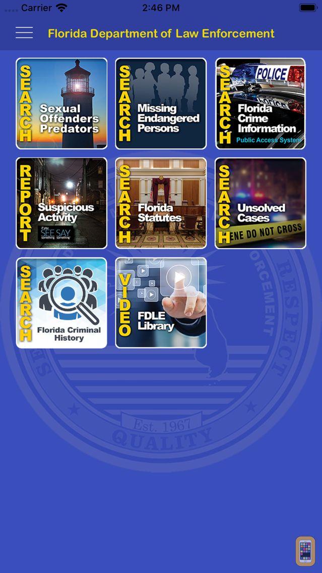 Screenshot - FDLE Mobile APP