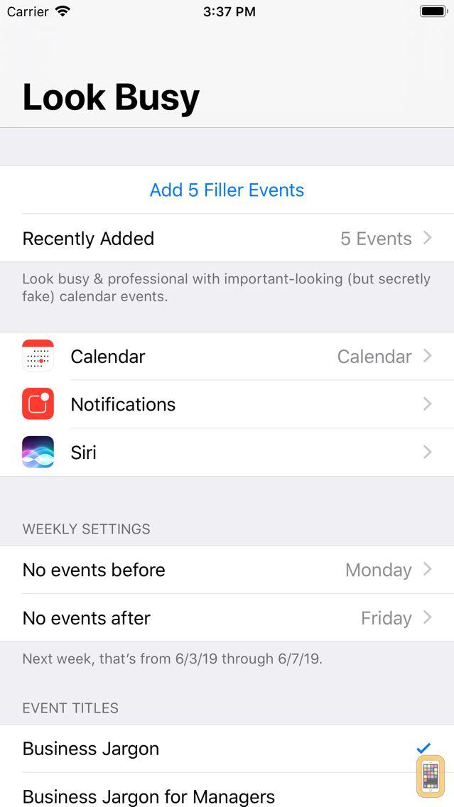 Screenshot - #LookBusy Fake Calendar Events
