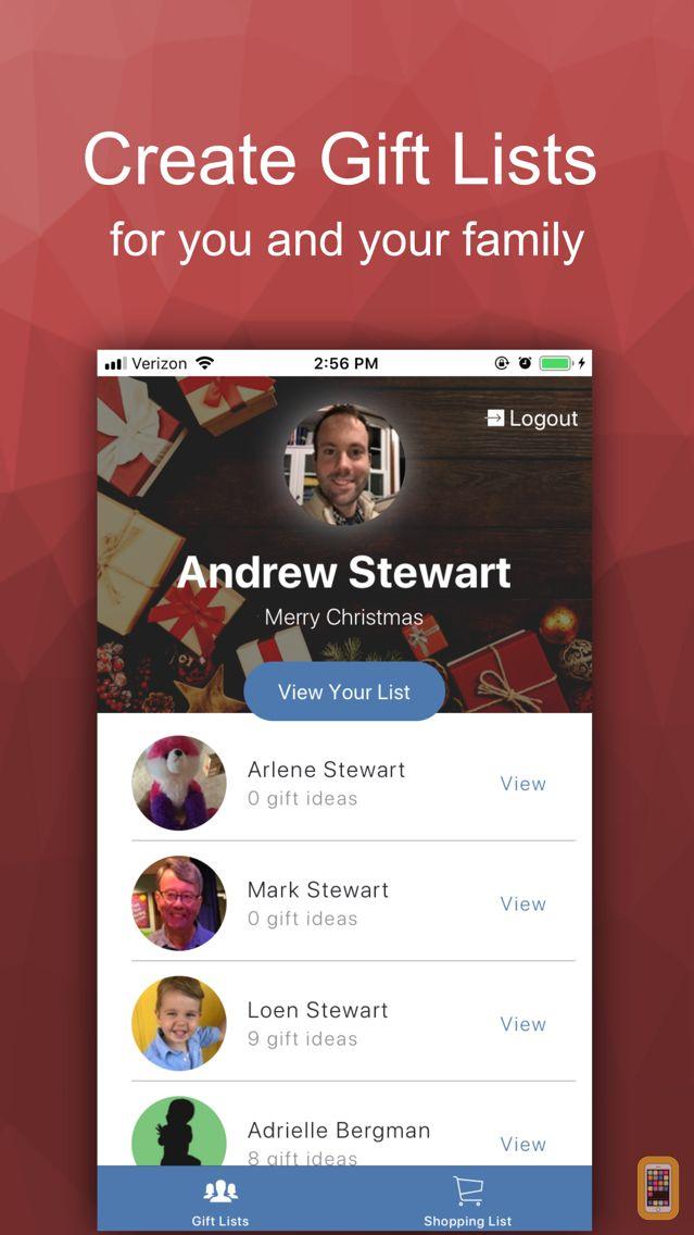 Screenshot - The Christmas List App