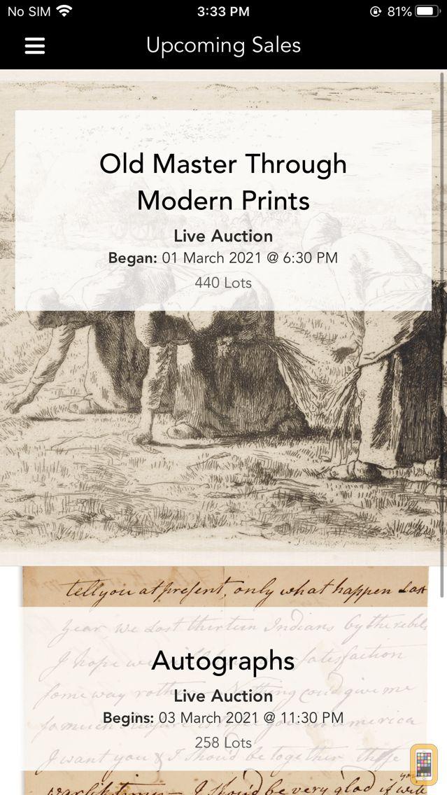 Screenshot - Swann Auction Galleries