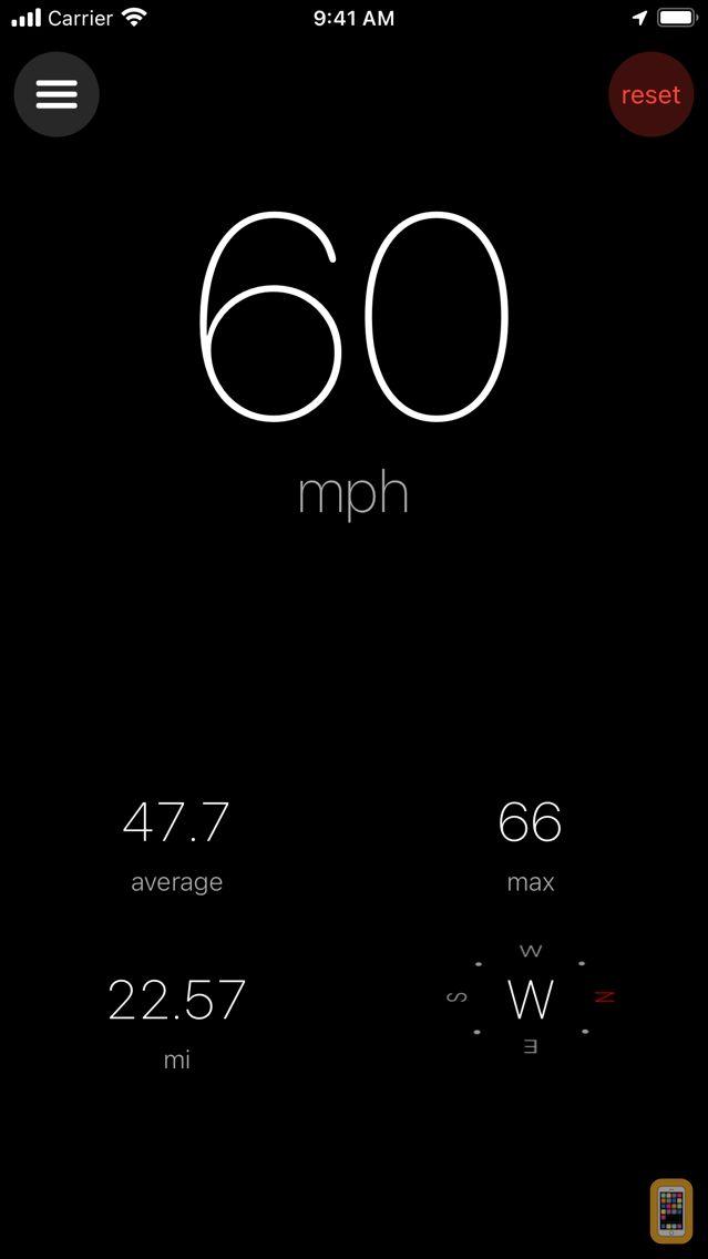 Screenshot - Speedometer ×