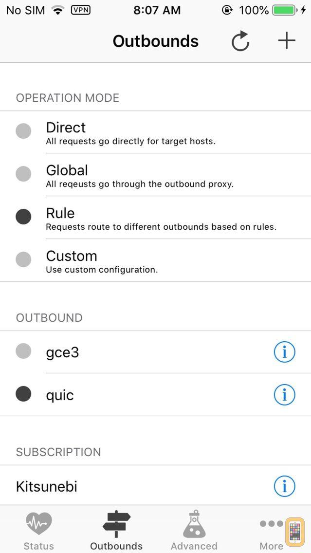 Screenshot - Kitsunebi - Proxy Utility