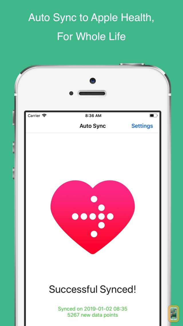 Screenshot - Auto Sync for Fitbit to Health