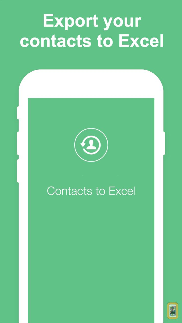 Screenshot - Export Contacts to Excel
