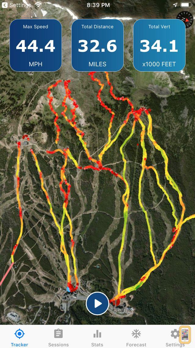 Screenshot - Ski Tracker & Snow Forecast