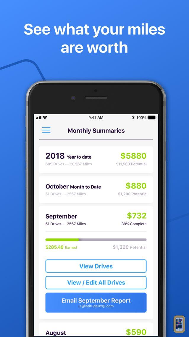 Screenshot - Simple Mileage Tracker