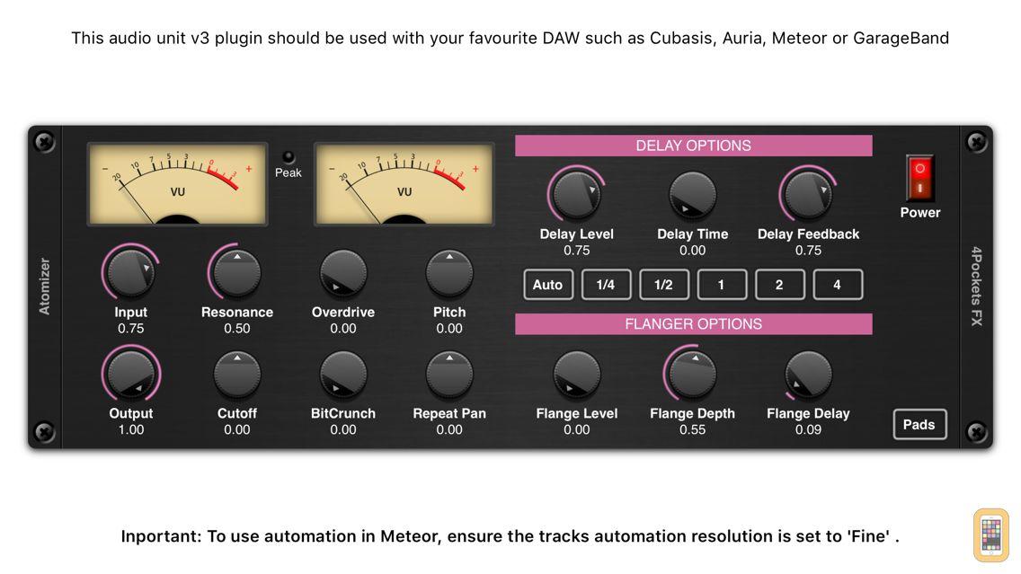 Screenshot - Atomizer AUv3 Plugin