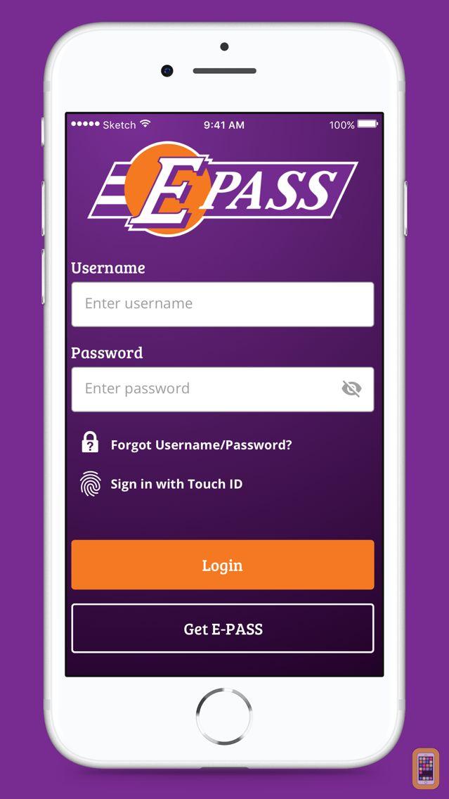 Screenshot - E-PASS Toll App