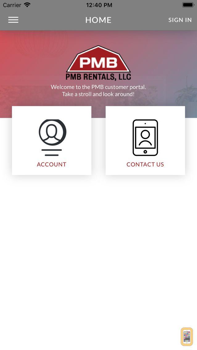 Screenshot - PMB Rentals Customer Portal