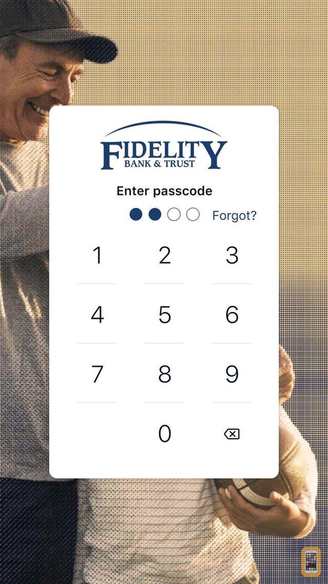 Screenshot - Fidelity Bank & Trust–Mobile