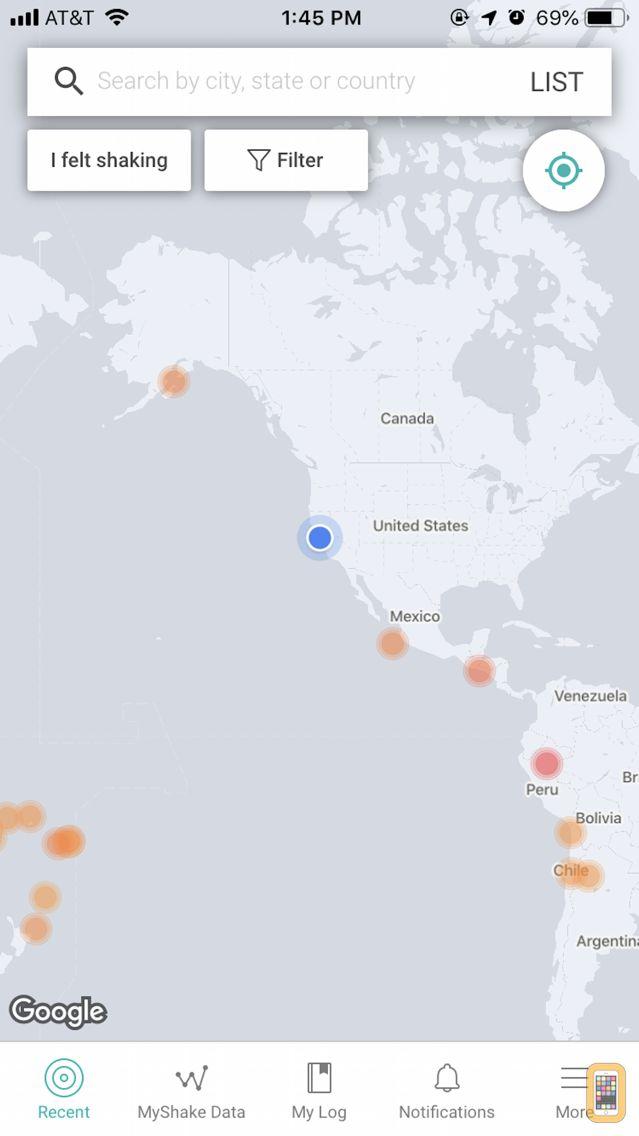 Screenshot - MyShake