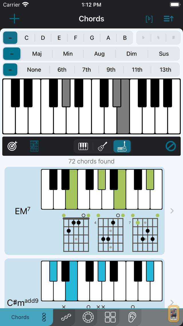 Screenshot - Tonality: Piano/Guitar Chords