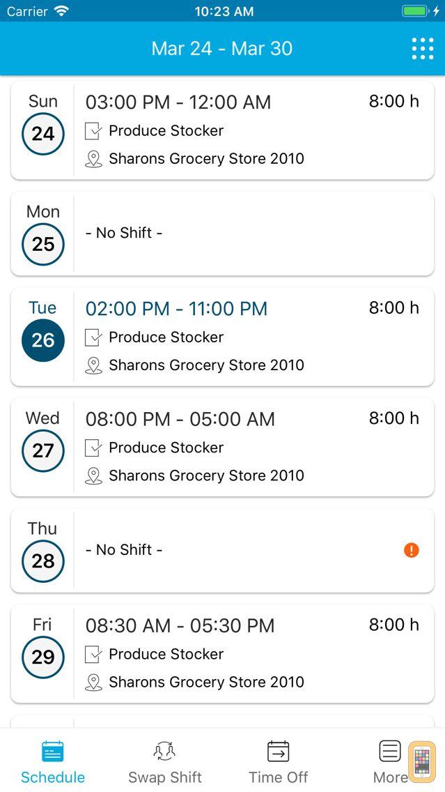 Screenshot - Blue Yonder Workforce