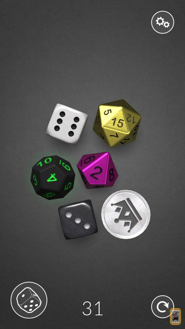 Screenshot - Dice Bag - 3D dice