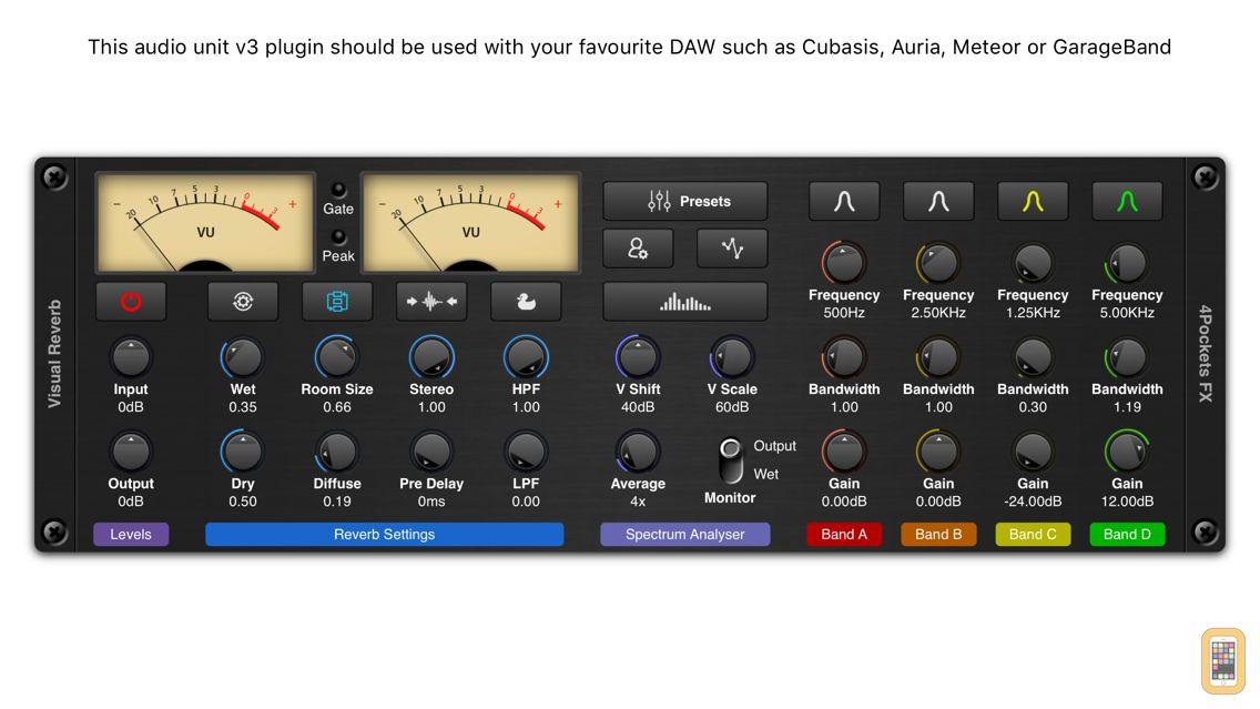 Screenshot - Visual Reverb AUv3 Plugin