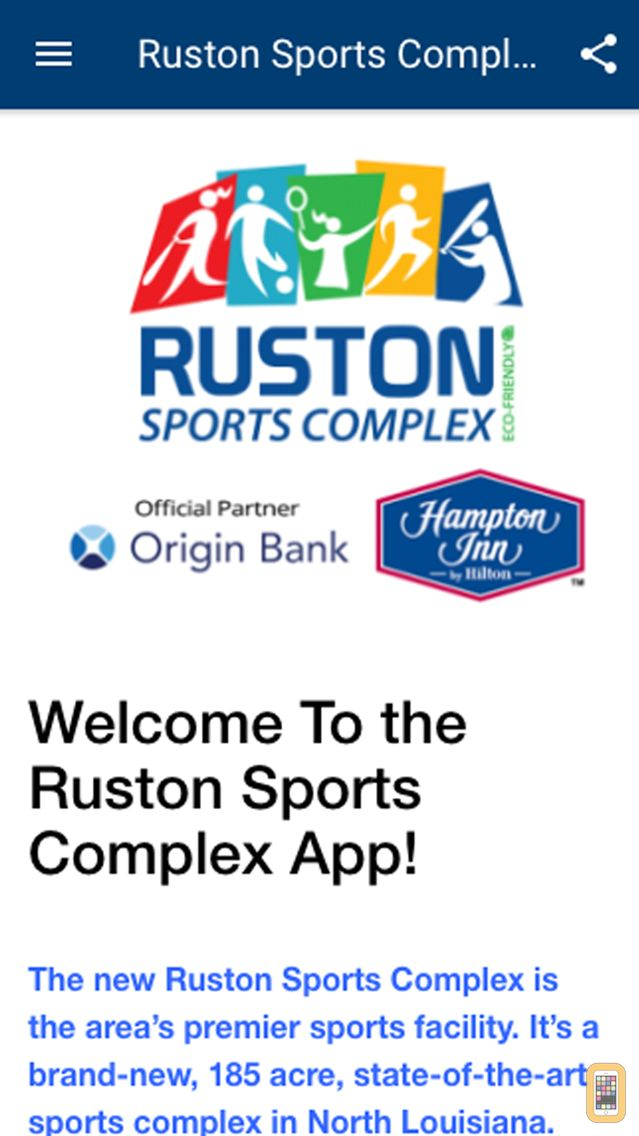Screenshot - Ruston Sports Complex App