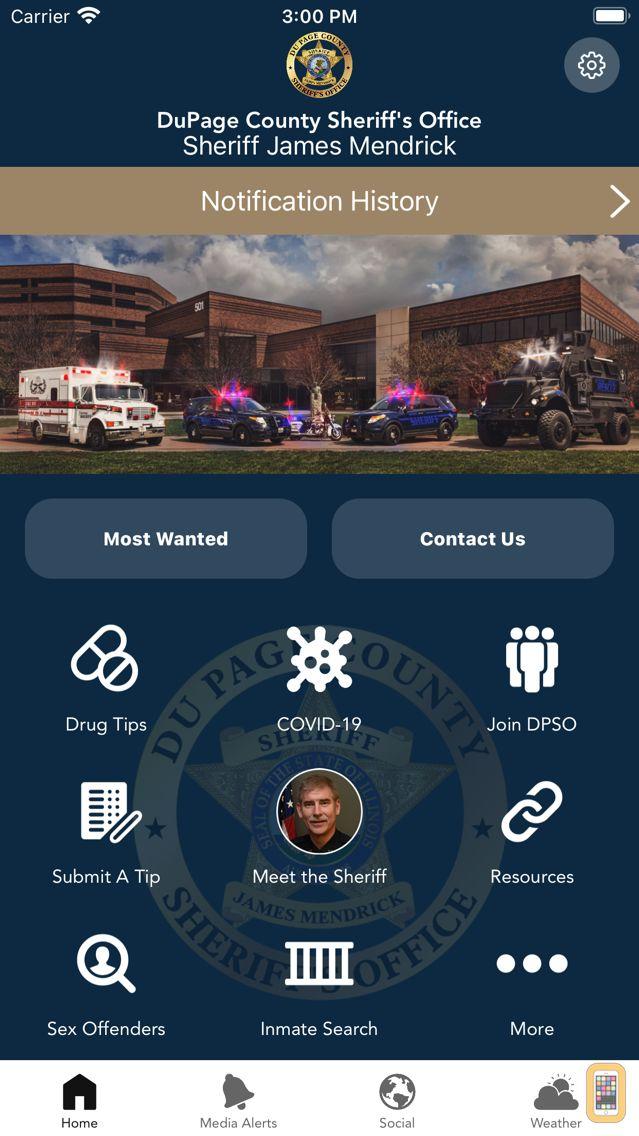 Screenshot - DuPage County Sheriff
