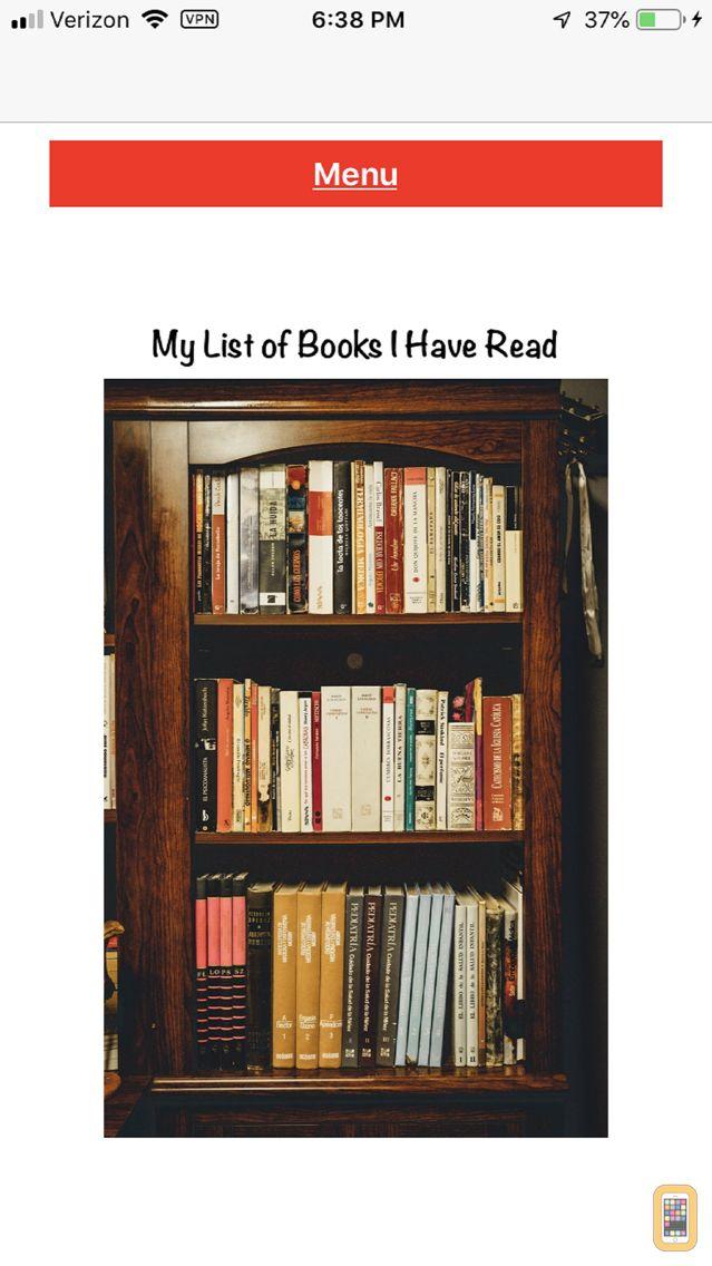 Screenshot - My Books Read
