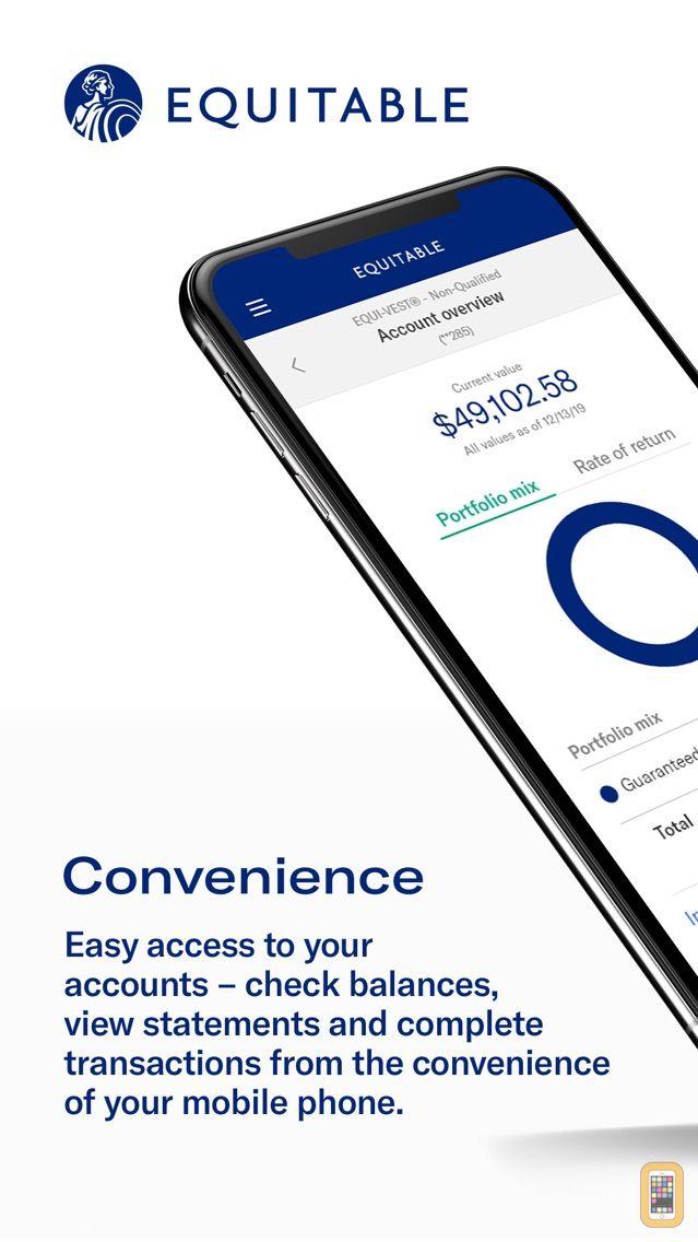 Screenshot - Equitable Mobile App