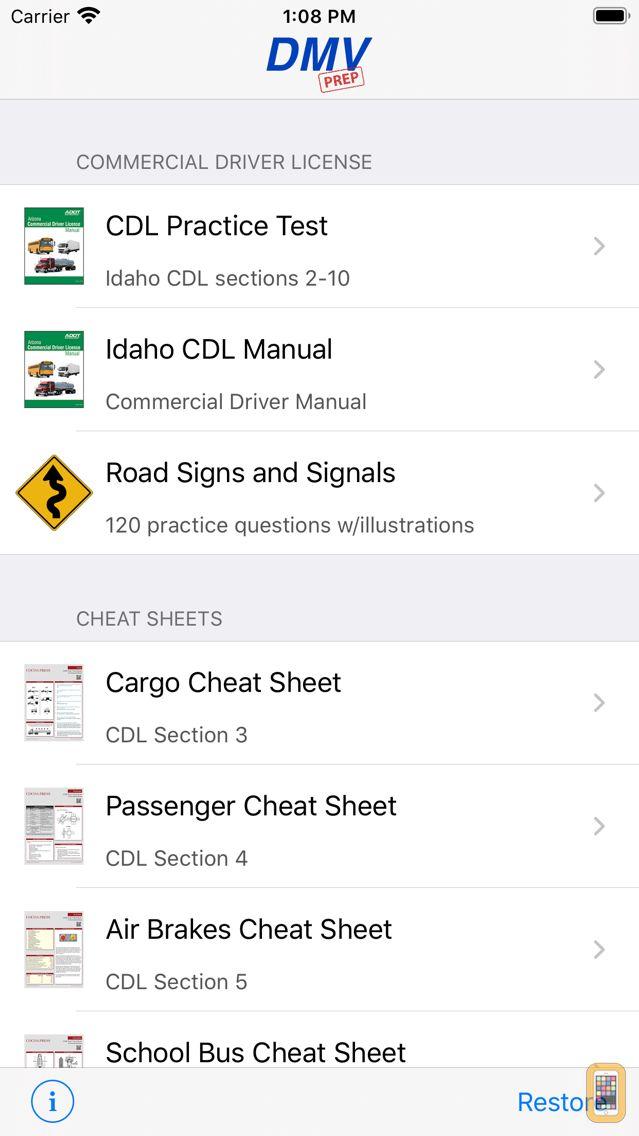 Screenshot - Idaho CDL Test Prep