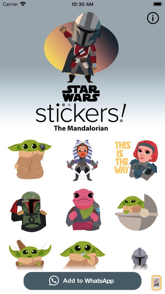 Screenshot - The Mandalorian Stickers