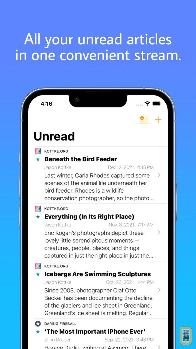 Screenshot - The Unreader: a Feedbin Client