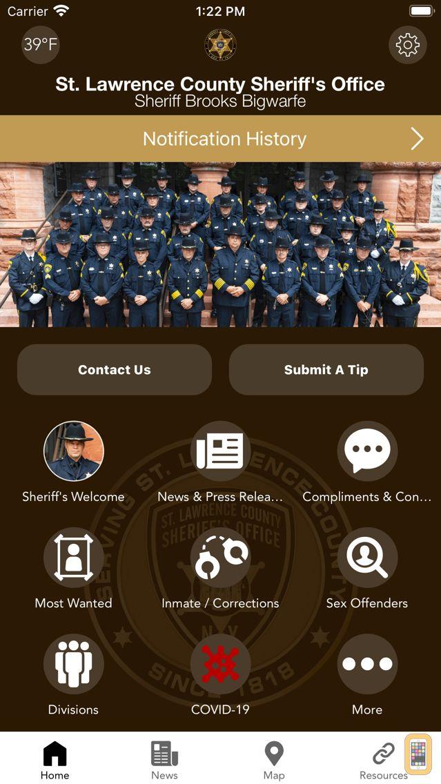 Screenshot - St. Lawrence County Sheriff