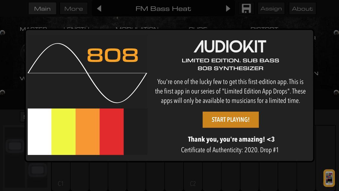 Screenshot - LE01 | Bass 808 Synth + AUv3
