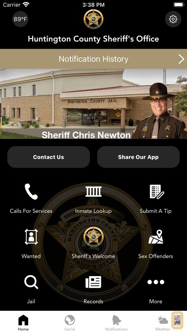 Screenshot - Huntington County Sheriff