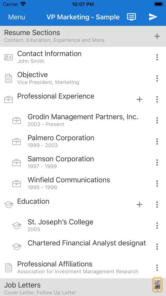 Screenshot - Got Resume Builder
