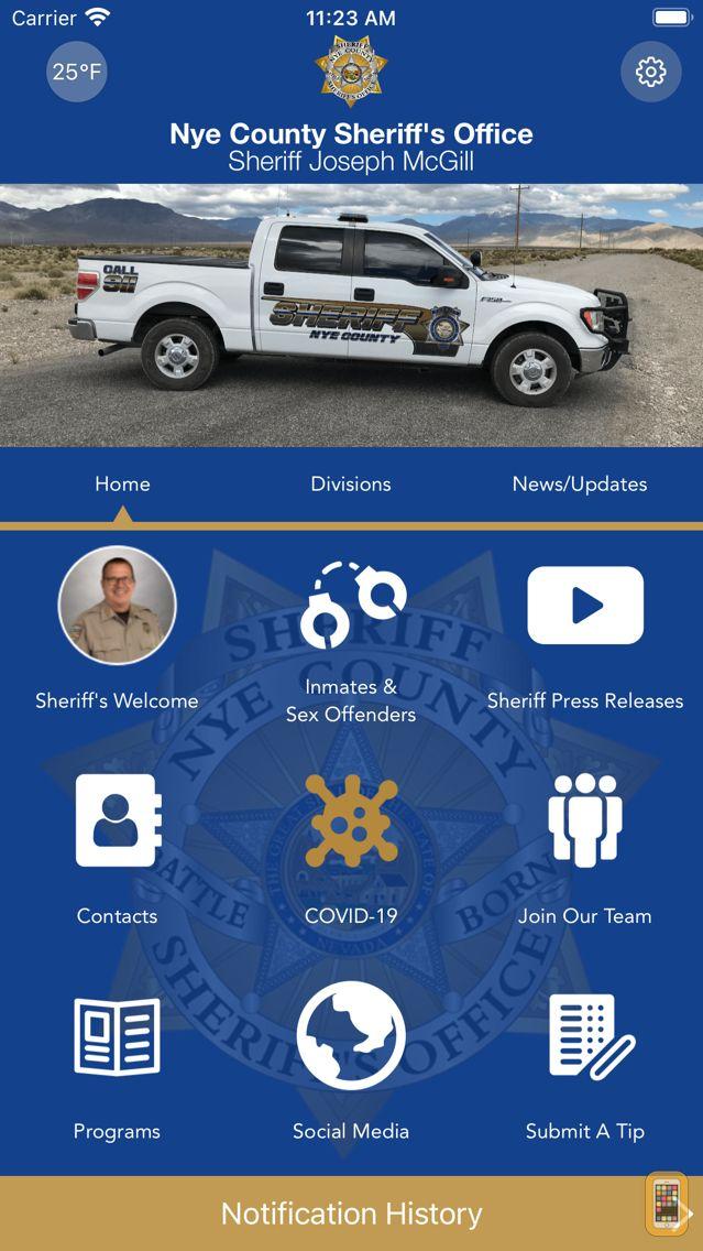 Screenshot - Nye County Sheriff's Office