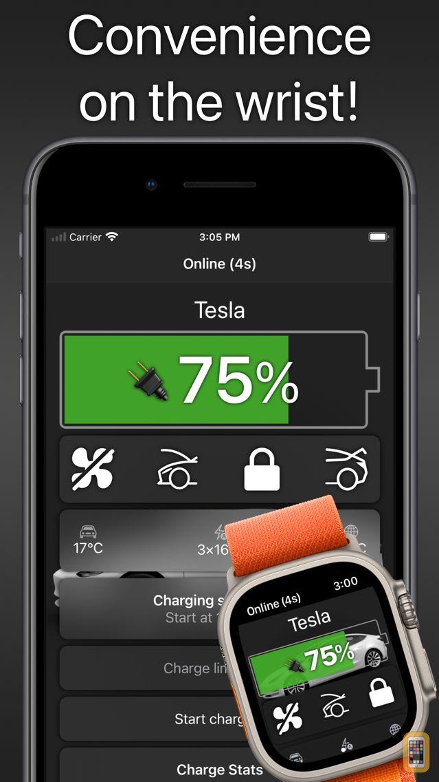 Screenshot - Watch app for Tesla