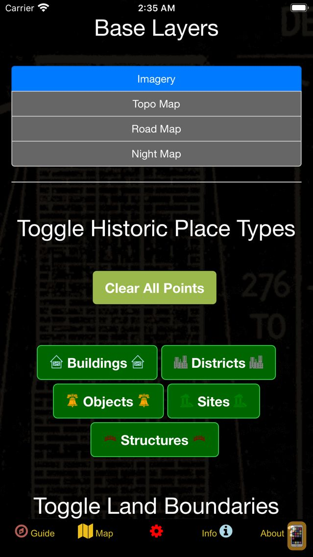 Screenshot - US Historical Places Point Map