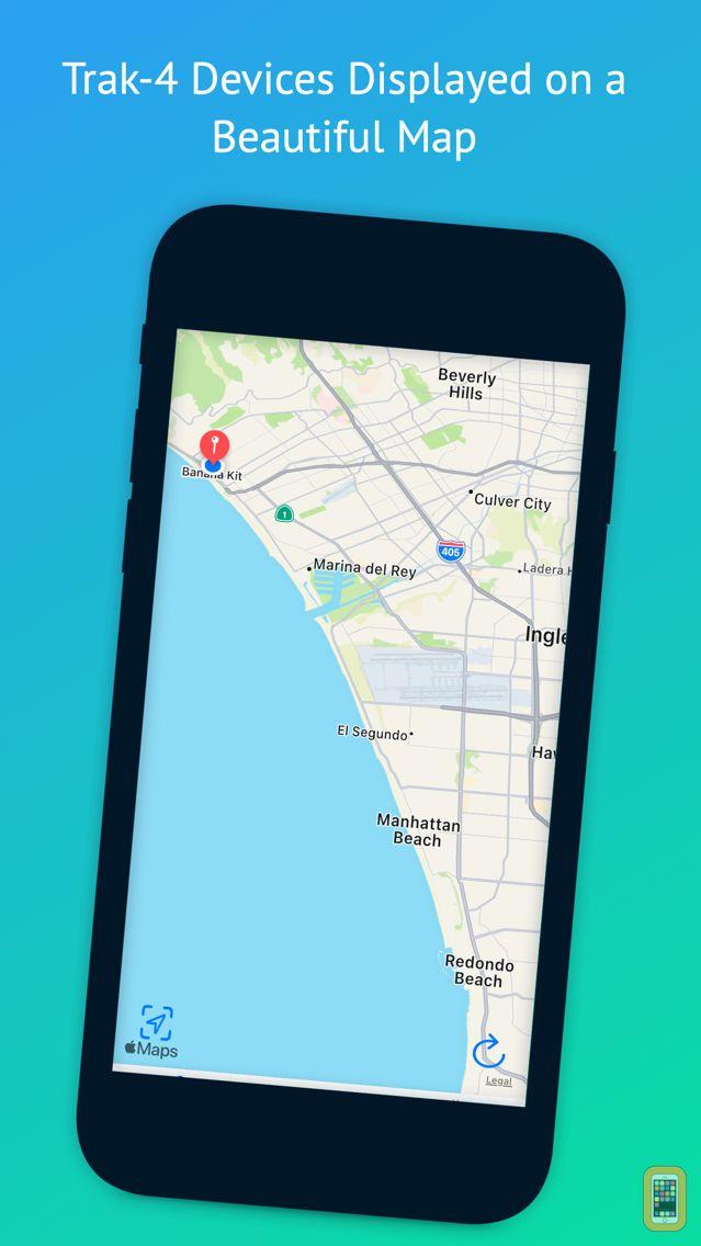 Screenshot - Tracking App for Trak-4 GPS