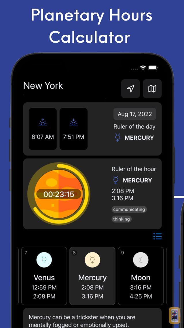 Screenshot - Planetary Hours Widget