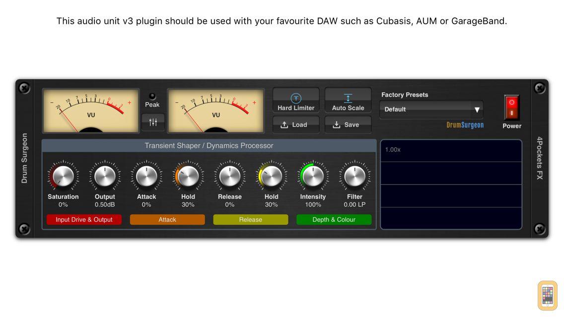 Screenshot - Drum Surgeon AUv3 Plugin