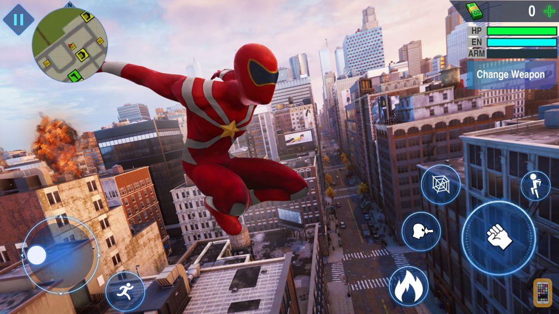 Screenshot - Super Rope Hero - Crime City