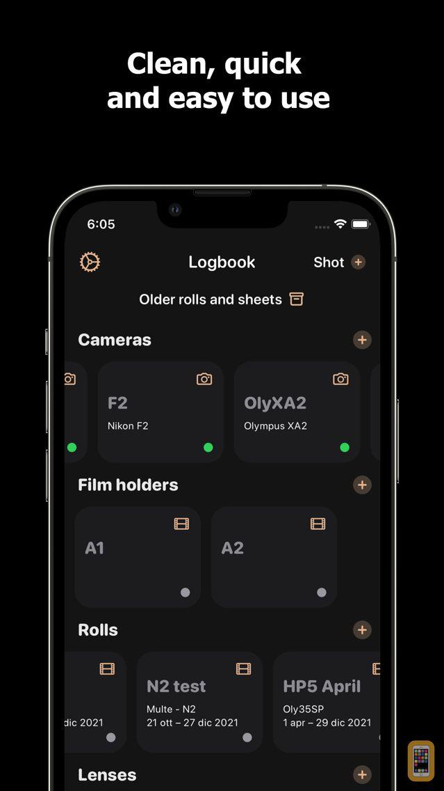 Screenshot - Lightme - Logbook