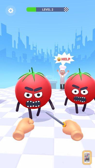 Screenshot - Hit Tomato 3D: Knife Master