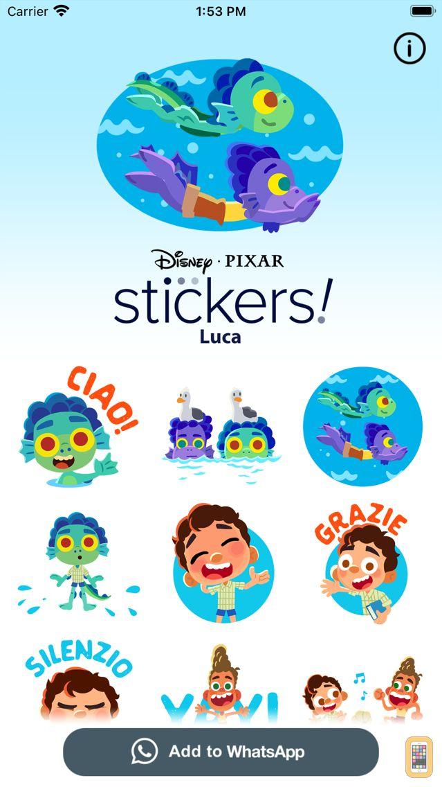 Screenshot - Pixar Stickers: Luca