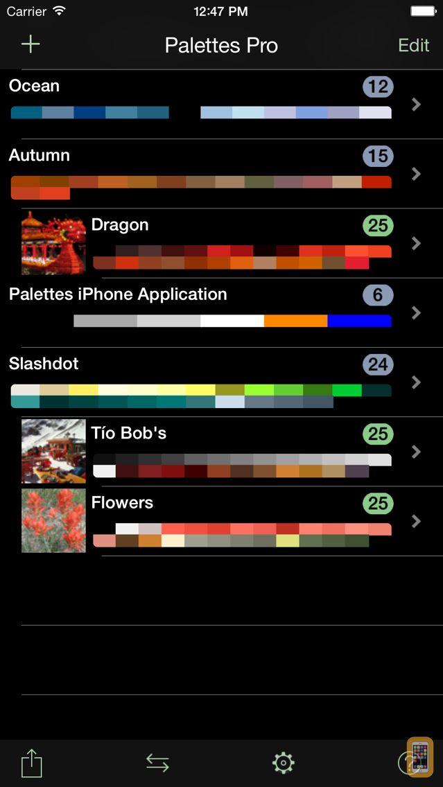Screenshot - Palettes Pro