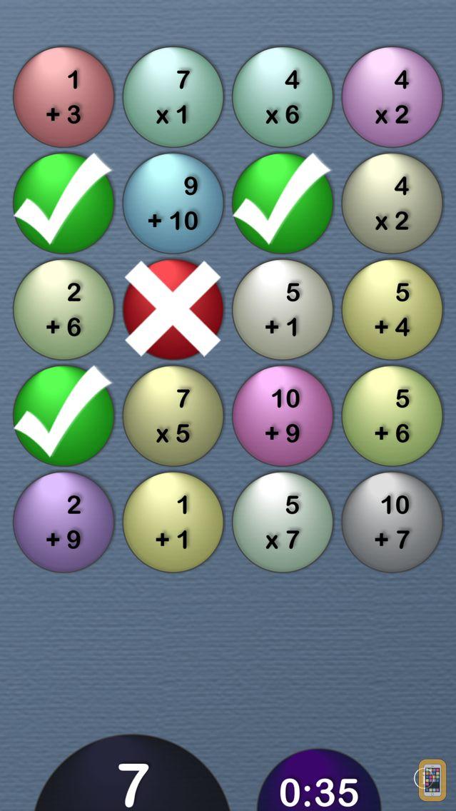 Screenshot - MathTables by PalaSoftware
