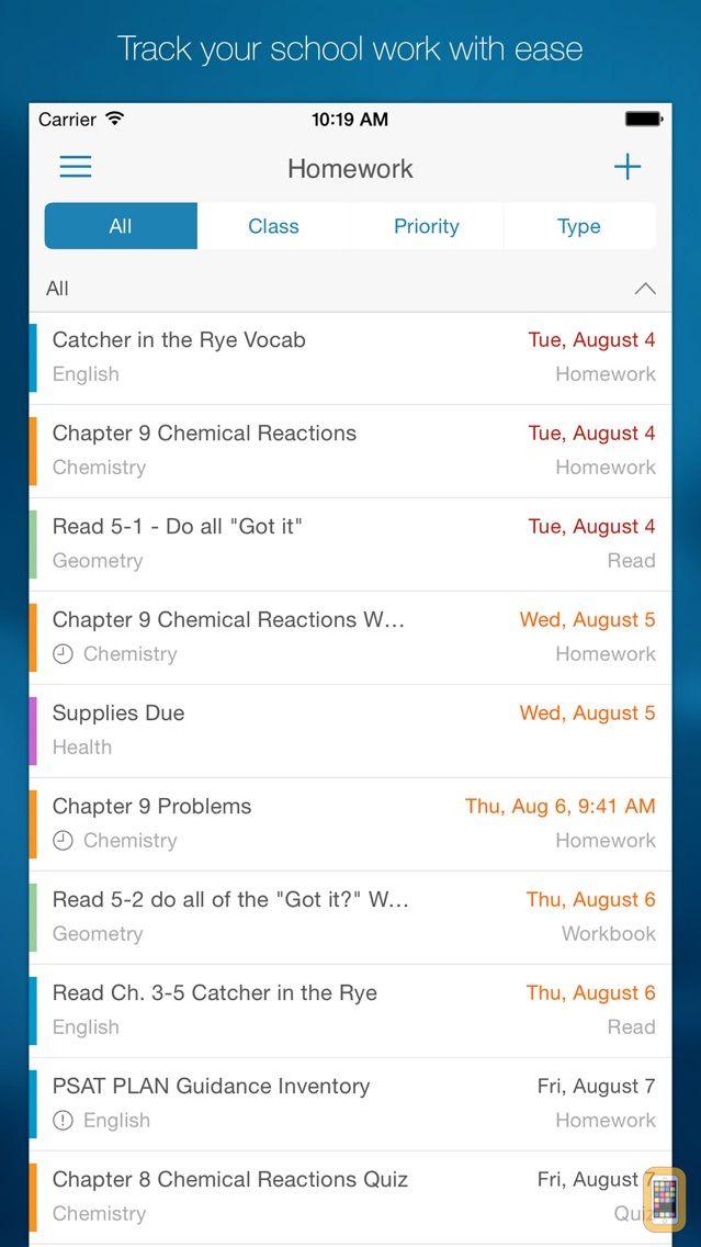 Screenshot - myHomework Student Planner