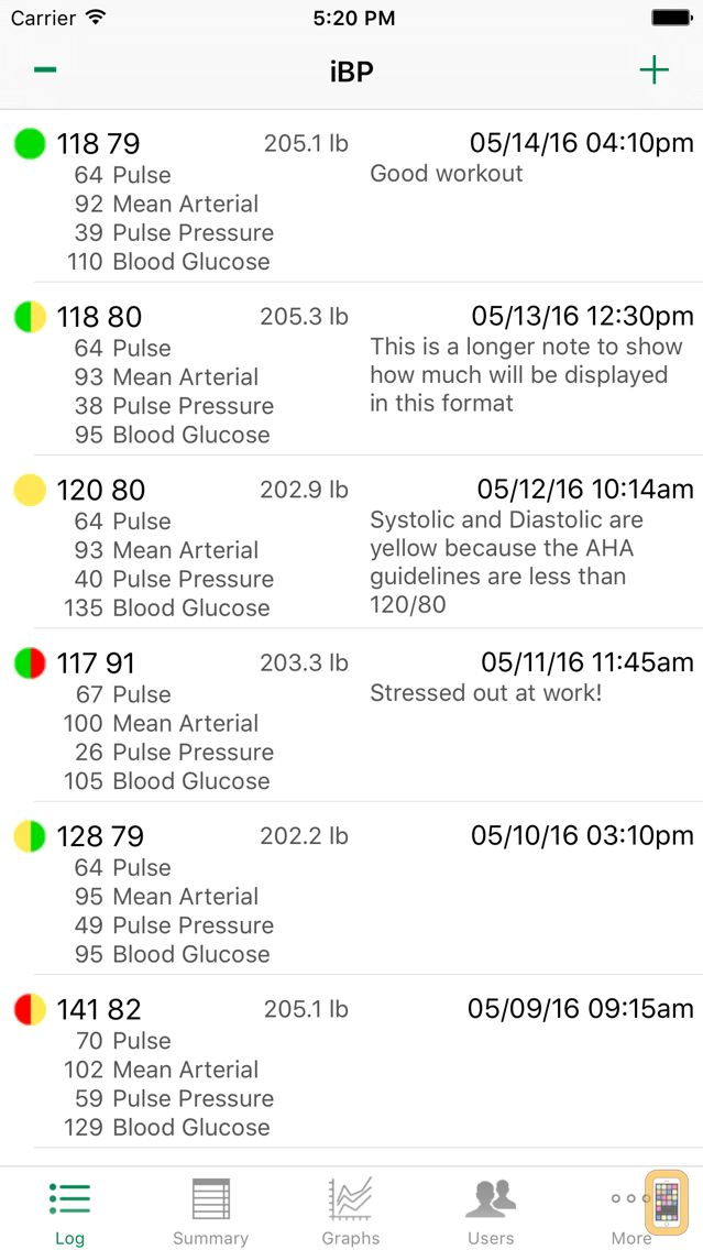 Screenshot - iBP Blood Pressure