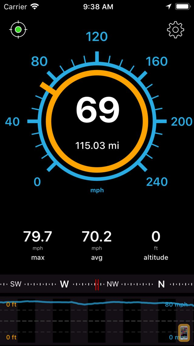 Screenshot - Speedometer Free Speed Box