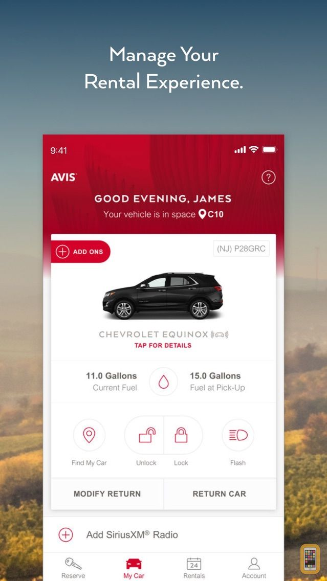 Screenshot - Avis - Car Rental
